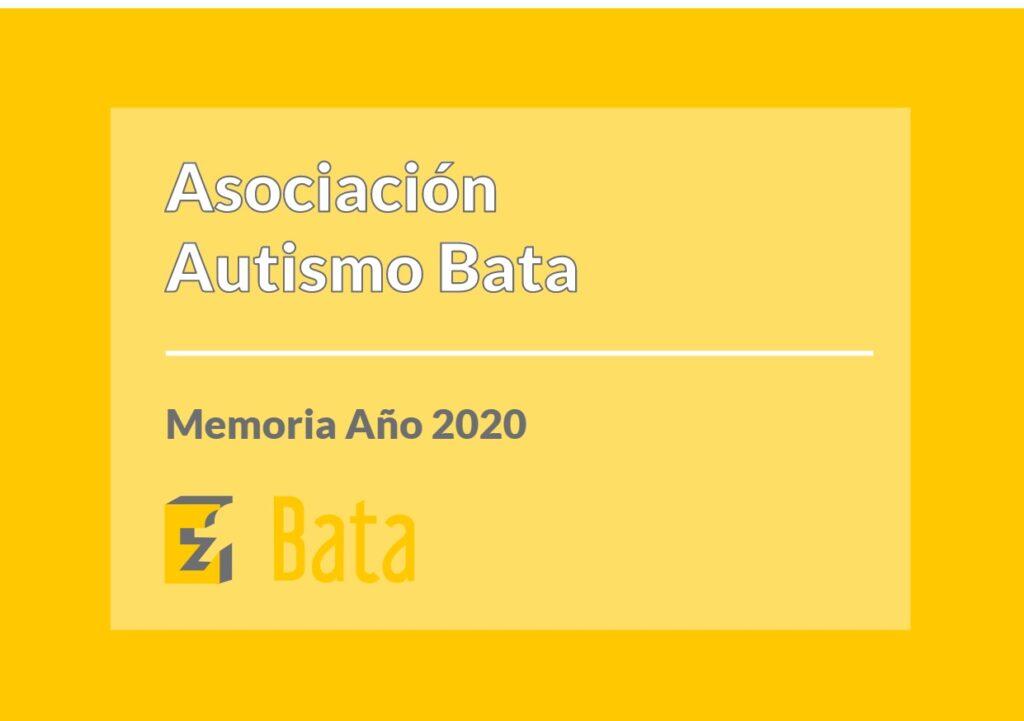 Memoria Asociación Autismo Bata 2020