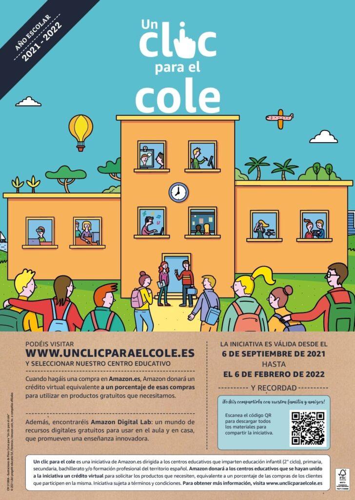 COLABORA CON NUESTRO COLE CON TUS COMPRAS EN AMAZON con el código 36019864.